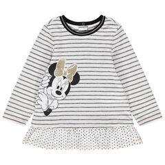 Tuniek met korte mouwen, strepen en Minnie Disney print