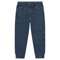 Pantalon en molleton léger effet jeans