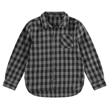 Junior - Chemise manches longues à carreaux all-over