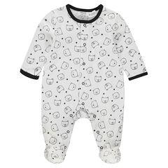 """Pyjama uit jerseystof met berenprint """"all-over"""""""