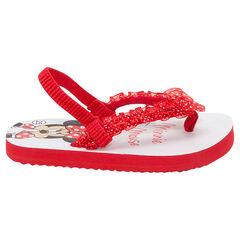©Disney slippers met Minnieprint en franjes met stippen