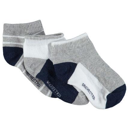 Lot de 3 paires de chaussettes courtes style sportswear