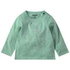 T-shirt manches longues en jersey avec motif printé