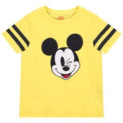 T-shirt manches courtes en coton bio print Mickey Disney et sequins magiques , Orchestra