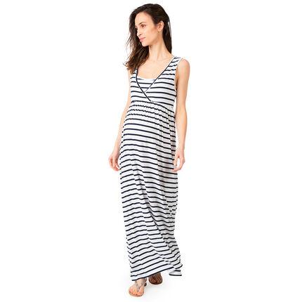 Lange zwangerschaps- en borstvoedingsjurk