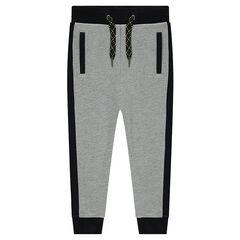 Pantalon de jogging en molleton bicolore