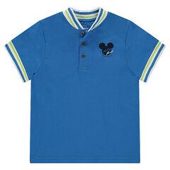 Polo manches courtes en jersey Disney avec serti Mickey brodé