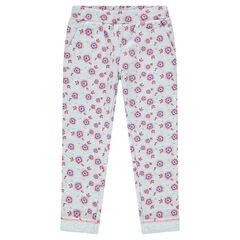 Pantalon de jogging à fleurs
