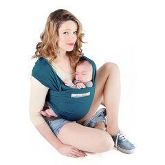Porte-bébé écharpe Basic 0-36 mois - Bleu retro