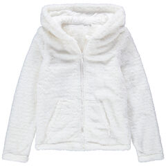 Junior - Gilet à capuche homewear en sherpa doublé sherpa