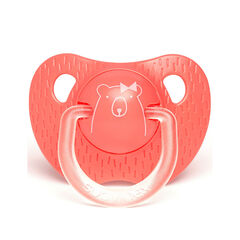 Sucette physiologique en silicone 18m+ - Ours rose