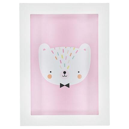 Cadre avec motif chat 30 x 22 cm