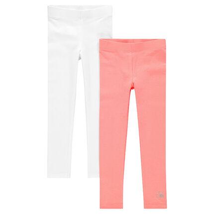 Set van 2 leggings in effen kleur