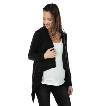 Zwangerschapsvest van tricot met decoratieve panden