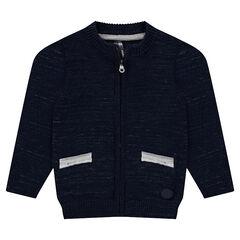 Vest van gedraaide tricot met ritssluiting