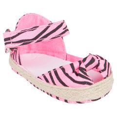 In roze kleur met zebraprint
