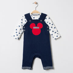 Ensemble salopette et t-shirt imprimés all-over Mickey Disney