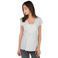 Tee-shirt homewear de grossesse et d'allaitement