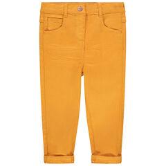 Pantalon coupe slim en toile