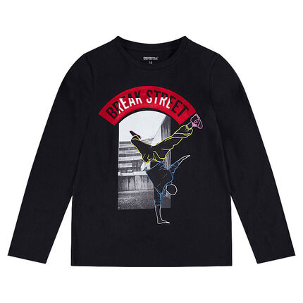 Junior - Tee-shirt manches longues en jersey avec danseur printé