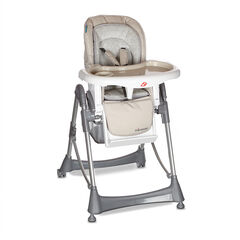 Chaise haute Luxe Métal - Beige