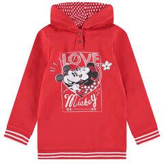 Sweat à capuche en molleton long avec print pailleté Mickey et Minnie ©Disney