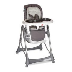 Chaise haute Luxe Métal - Gris anthracite