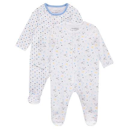 """Set met 2 pyjama's uit jerseystof met print met sterren/koala's """"all-over"""""""