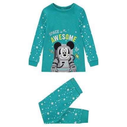 Pyjama uit jerseystof met print van ©Disney Mickey en met sterren