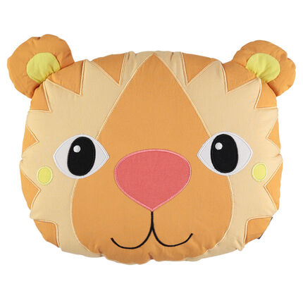 Kussen in popeline en wattering met leeuw