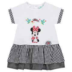 Robe effet 2 en 1 Disney avec print Minnie et touches de vichy