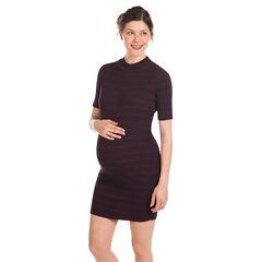 Jurk korte mouwen voor tijdens de zwangerschap met strepen zijkant