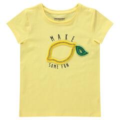 T-shirt met korte mouwen van jersey met fantasieprint in relië