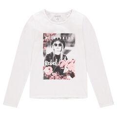 Junior - T-shirt met lange mouwen met fantasiefotoprint aan de voorzijde