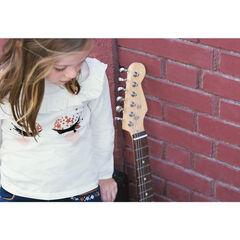 T-shirt met lange mouwen van jerseystof met wimpers met effect van velours