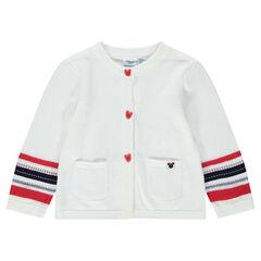 Gilet en tricot avec rayures jacquard et détails Minnie ©Disney