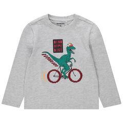 T-shirt met lange mouwen van jerseystof met dinoprint