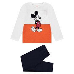 Pyjama uit jerseystof met print van Disney's Mickey