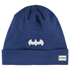 Bonnet en tricot fin DC Comics avec badge patché Batman
