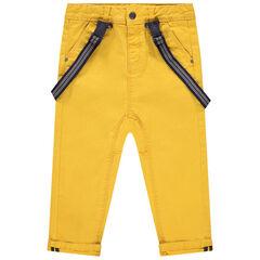 Pantalon en toile à bretelles amovibles