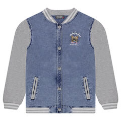 Junior - Teddy en molleton effet jeans blanchi