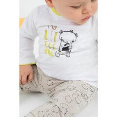 "Ensemble van T-shirt met berenprint en broek met print ""all-over"""