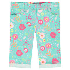 "Capri van twill met bloemenprint ""all-over"""