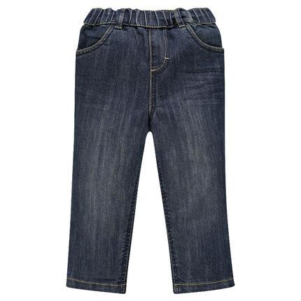 Jeansbroek used effect elastische tailleband