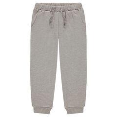 Pantalon en molleton mélangé de fil brillant