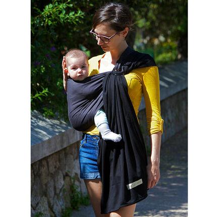 Echarpe porte bébé Sling sans pad - Anthracite/Noir