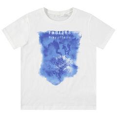 Junior - T-shirt manches courtes en jersey avec imprimé fantaisie