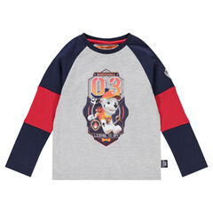Tee-shirt manches longues tricolore avec print Marcus Pat' Patrouille Nickelodeon™