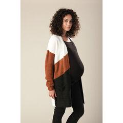 Gilet long de grossesse en tricot