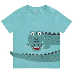 T-shirt manches courtes print croco à langue mobile